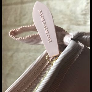 NWOT Authentic Burberry pink cosmetic bag.
